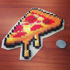 Pizza slice perler beads by everlancer