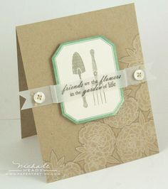 Love the layout, and the flowers on Kraft.  by Nichole Heady.