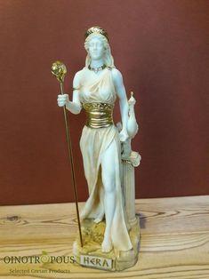 Goddess Hera of Women, Marriage - Handpainted Statue, Greek Goddess Statue, Hera Goddess, Greek Mythology Art, Roman Mythology, Greek Statues, Buddha Statues, Aesthetic Statue, Zeus Statue, Ancient Greek Religion