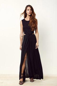 Simple Bliss Black Maxi Dress