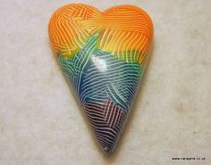 TAD 17 Rainbow striped heart  by Cara Jane Contemporary Jewellery, via Flickr