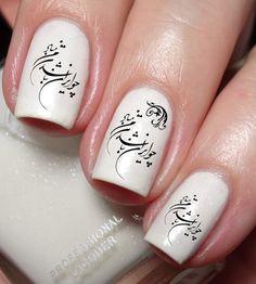 Persian Farsi Iran Calligraphy Nail Art Sticker Water by Nailodia Navy Nail Art, Navy Nails, Gucci Nails, Lines On Nails, Persian Calligraphy, Iranian Art, Water Transfer, Nail Art Stickers, Nail File