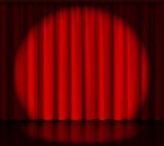 Spotlight on stage curtain by Microvector on @creativemarket