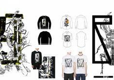 This mini project puts together the illustrations and prints that I had worked on during my internship at Alexander McQueen MCQ in 2014.   It shows the collages and hand illustrations that I did for the Menswear collection.   I have also included press images of the pieces that I had worked on.