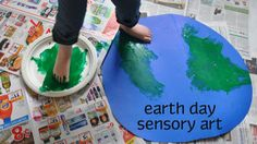 Earth Day Sensory/Painting Project