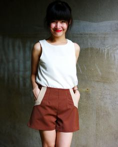 New Arrival High waisted Short / Vintage style short by LadyTA, $29.00
