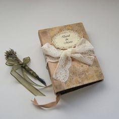 Wedding guest book boho wedding photo от SevenMemoriesBookArt
