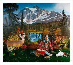 """Wendy Red Star (American, born 1981). Four Seasons Series (Summer), 2006. Geography: United States, Montana. Culture: Crow. The Metropolitan Museum of Art, New York. Nerman Museum of Contemporary Art, Johnson County Community College, Overland Park, Kansas (2014.06-2014.09)   This artwork is part of """"The Plains Indians: Artists of Earth and Sky"""" on view now through May 10, 2015. #PlainsIndians"""