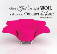 Removable Wall Sticker Quote Marilyn Monroe - Give A Girl