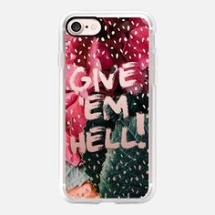 Give 'Em Hell spots and florals by Maria Kritzas #iphone7 #casetify