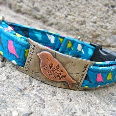 Custom pet ID quiet collar tag  The Wren by makeyourdogsmile, $28.00  Must message & see if can make smaller for kitties
