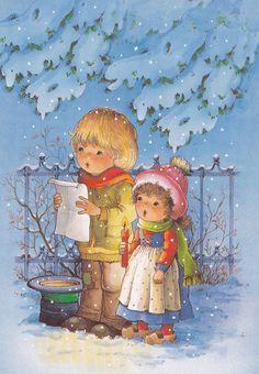 Vintage Christmas card   fete noel belles images 2