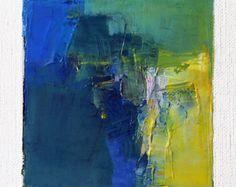 26. Mai 2016 - abstrakte Ölgemälde - 9 x 9-Malerei (9 x 9 cm - ca. 4 x 4 Zoll) mit 8 x 10 Zoll-Matte