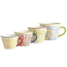 Floral Measuring Cups - Set of 4