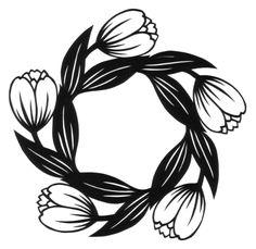 cut paper design Tulip Circle and Star