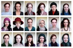 """""""Lydia Francis has been busy making herself up and producing these amazing set of self-portraits as part of her AS Photography coursework."""" - Fortismere Secondary School in North London"""