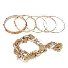 Yoins Punk Stud Tassel Bracelet Set in Camel (345 ZAR) ❤ liked on Polyvore featuring jewelry, bracelets, charm bangle, rock and roll jewelry, charm jewelry, studded jewelry and punk jewelry