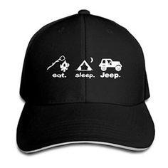 Unisex Eat Sleep Jeep Fitted Baseball Hat