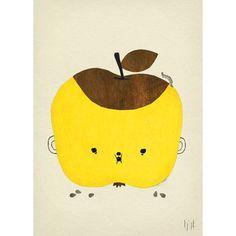 """Plakat: """"Apple Papple"""", 50x70. - http://www.fjeldborg.no/nettbutikk/plakater/plakat-apple-papple-50x70/"""
