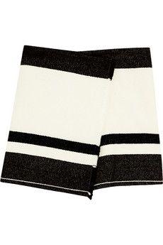 Isabel Marant Adelaide wool-blend wrap mini skirt | THE OUTNET