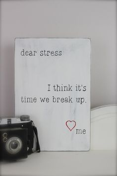 Wood Wall Art, Sign, Wood Sign, Dear Stress Letter, Quote on Wood on Etsy, $24.00