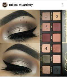 Look by Rubina MUartistry using the ABH Master Palette by Mario