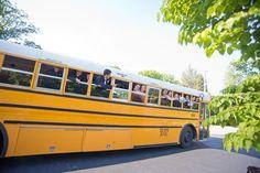 bus transportation! | Tim Will #wedding
