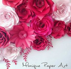Paper flowers backdrop wedding https://www.facebook.com/Monique-Paper-Art-384510418423198/?fref=photo