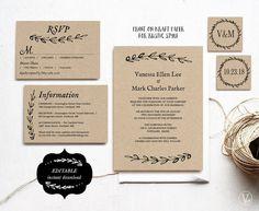 16 Printable Wedding Invitation Templates You Can DIY | Diy wedding ...
