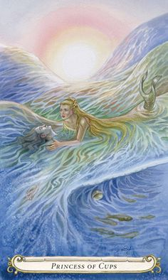 Princess of Cups - The Fairy Tale Tarot by Lisa Hunt