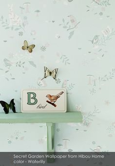 Secret Garden Wallpaper from Hibou Home in Waterlily