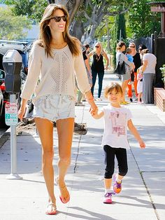 Alessandra Ambrósio shows off her long, lean legs during a sun-filled outing with 4-year-old daughter Anja – who's got mom's smile! – Tuesday afternoon in L.A.
