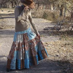 patchwork skirt idea