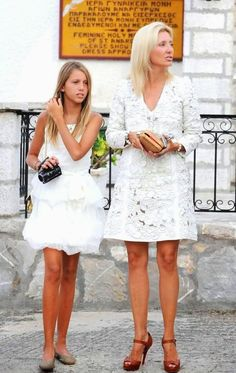 THE WHITE  HH.RR.HH. Princess Olympia and Crown Princess Marie Chantal of Greece