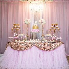 Best baby shower ides princess pink and gold birthday parties 64 ideas Pink Gold Party, Pink And Gold Birthday Party, Gold First Birthday, Sweet 16 Birthday, Baby Shower Princess, Princess Birthday, Girl Birthday, Ballerina Birthday, 70th Birthday