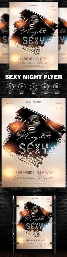 Girls Night Party Flyer — Photoshop PSD #night #club • Download ➝ https://graphicriver.net/item/girls-night-party-flyer/21449649?ref=pxcr
