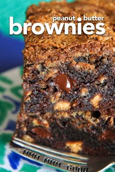 These chocolate peanut butter brownies are a peanut butter lovers dream! This recipe starts from a box mix or your favorite brownie recipe, and doctors it up with lots of peanut butter flavor! #peanutbutter #chocolate #dessert #brownies #recipes #brownierecipe