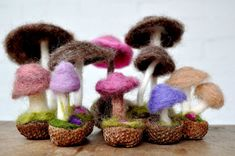 Jackie: your next idea after snowmen... How to Make a Needle-Felted Mushroom #needlefeltingtutorials