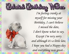 Free online Felling Cranky That I Missed It ecards on Birthday Belated Birthday Card, Birthday Wishes Funny, Birthday Songs, Very Happy Birthday, Happy Birthday Banners, It's Your Birthday, Boy Birthday, Beautiful Birthday Cards, Happy Panda
