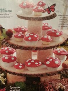 Mushroom cupcakes. From Parents Magazine