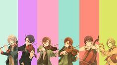 austria violins cello instruments italy spain orchestra anime flute axis powers hetalia viola romano_www.wallpaperno.com_12.jpg 420×236 pixels