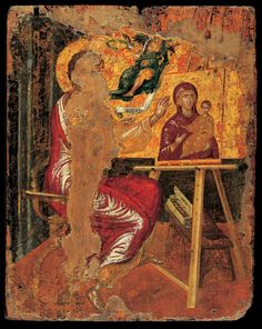 St Luke Painting the Virgin and Child  before 1567 Tempera and gold on canvas attached to panel, 41,6 x 33 cm Benaki Museum, Athens