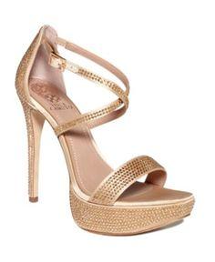 Vince Camuto Shoes, Garnetto Platform Evening Sandals - Shoes - Macy's