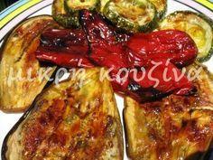 μικρή κουζίνα: Ψητά λαχανικά στο φούρνο Salad Bar, Weight Watchers Meals, Zucchini, Sweet Home, Food And Drink, Chicken, Vegetables, Cooking, Breakfast