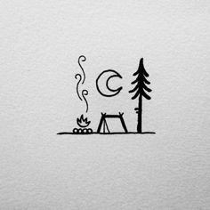 Car Camping Prius - Camping Videos Organization - Lets Go Camping Drawing - Cute Camping Wallpaper - Camping Fire Couple - Summer Festival Camping Mini Drawings, Cute Easy Drawings, Cool Art Drawings, Art Drawings Sketches, Doodle Drawings, Doodle Art, Pencil Drawings, Drawing Ideas, Simple Doodles