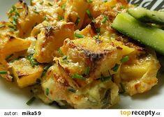 Zapečené sýrové brambory s jogurtem recept - TopRecepty.cz Potato Salad, Potatoes, Chicken, Meat, Ethnic Recipes, Food, Potato, Essen, Meals