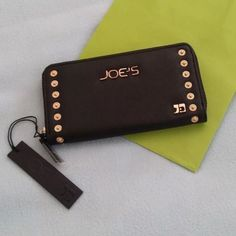 "Selling this ""Joe's Jeans black casanova stud zip around wallet"" in my Poshmark closet! My username is: crazyposh. #shopmycloset #poshmark #fashion #shopping #style #forsale #Joe's Jeans #Clutches & Wallets"