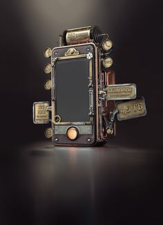 Steampunk Phone on Behance