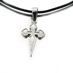 Hommes Acier Inoxydable Croix Celtique Irlandais Wales Noeud Collier Pendentif Chaîne Cadeau
