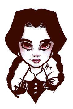 Goth Girls - Wednesday Addams by LarissaRivero on DeviantArt